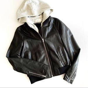 A.L.C   Edison Black Leather Jacket Size 6